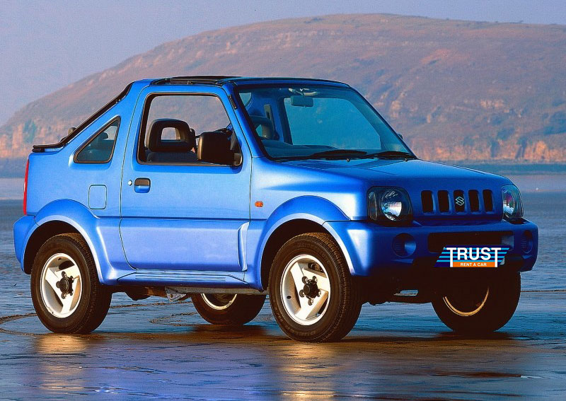 suzuki jimny cabrio trust rent a car chania. Black Bedroom Furniture Sets. Home Design Ideas